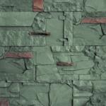 VASPO lámaný mix zelenošedý