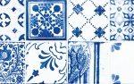 MAJOLIKA obkládačka – dekor modrá 20×60